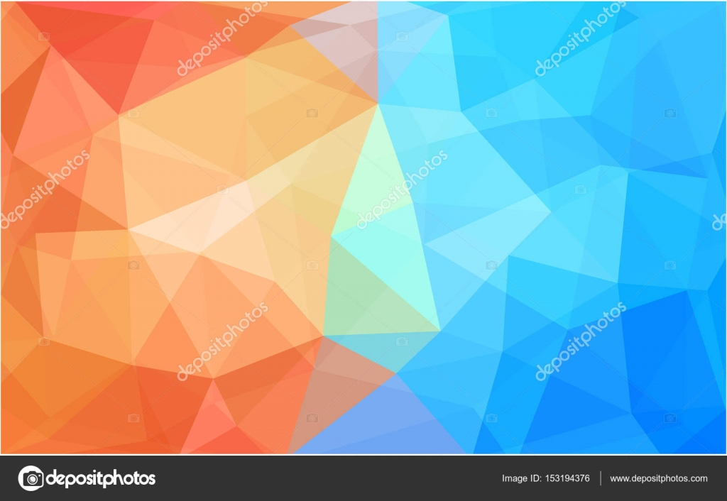 Light Blue Red Vector Polygon Abstract Background