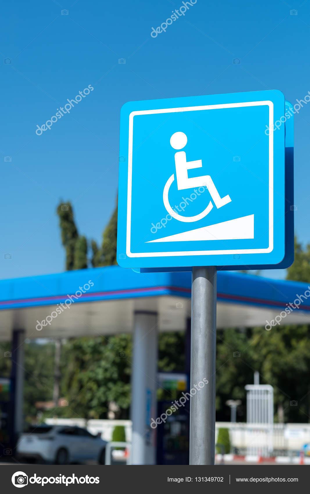 Señal estacionamiento reservado para personas con discapacidad ...