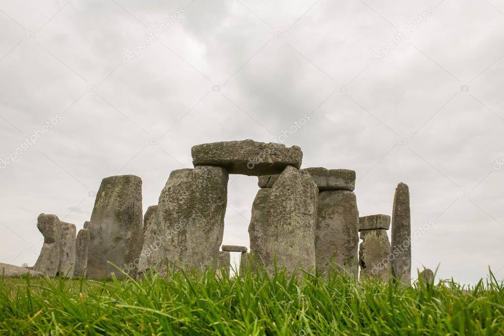 Dark moody clouds over Stonehenge