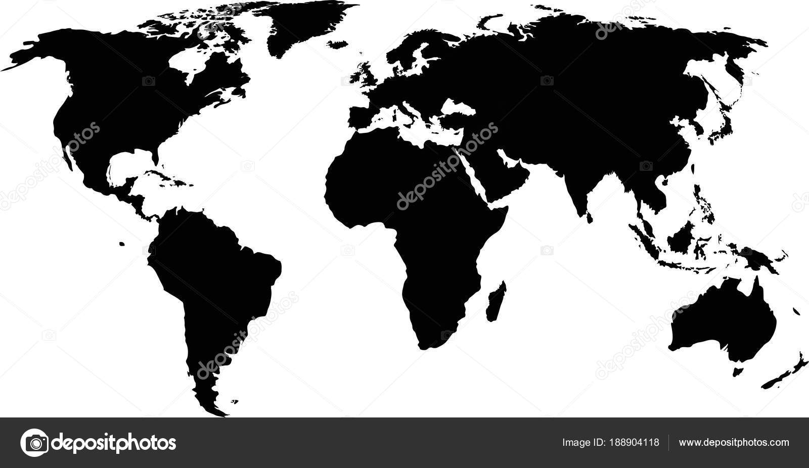 Silhouette of a world map stock vector 1000pixels 188904118 silhouette of a world map stock vector gumiabroncs Choice Image