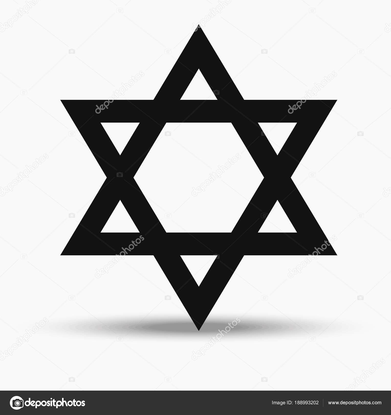 Jewish Religious Symbol Star Of David Stock Vector 1000pixels