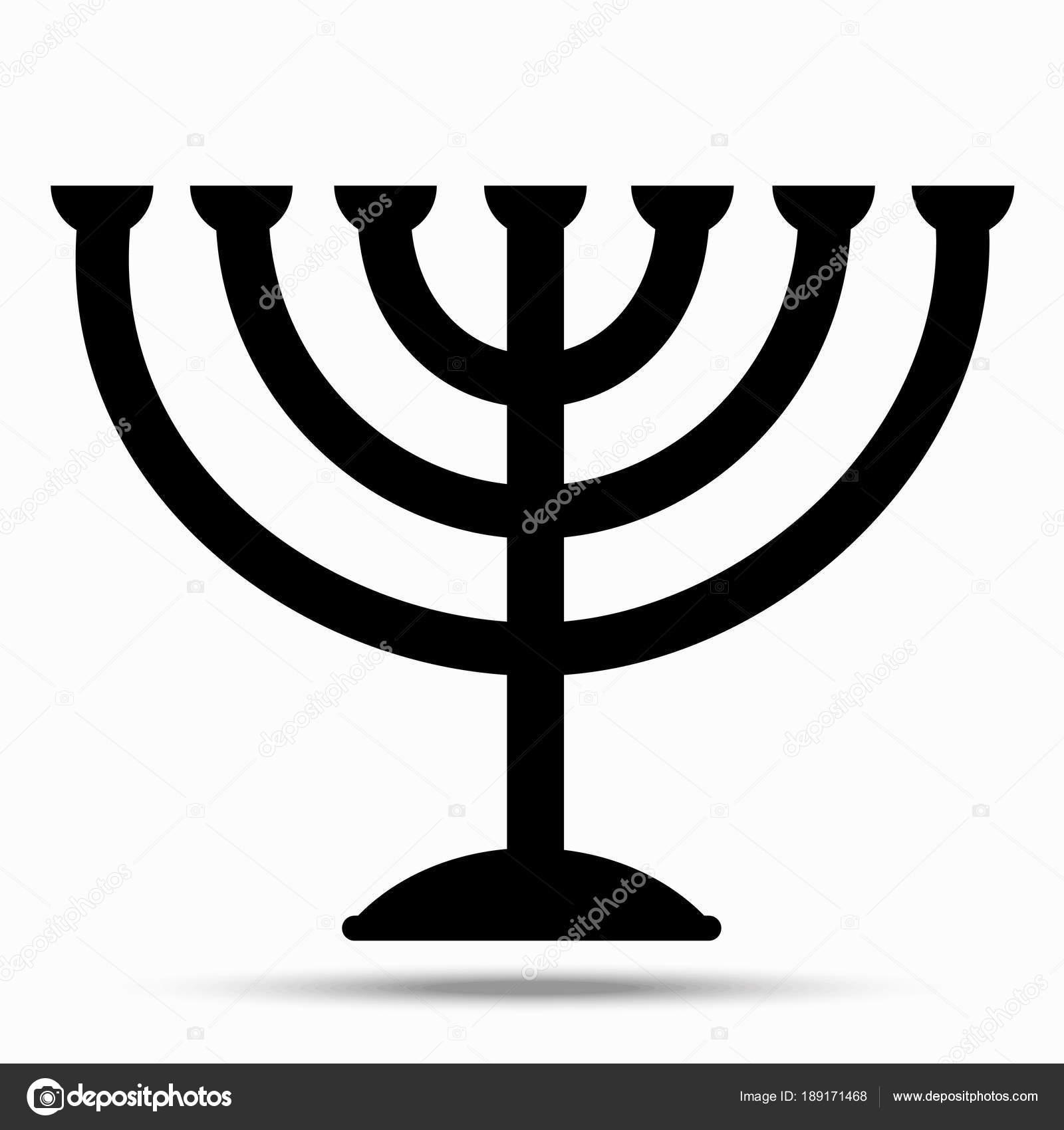 Menorah Symbol Of Judaism Stock Vector 1000pixels 189171468