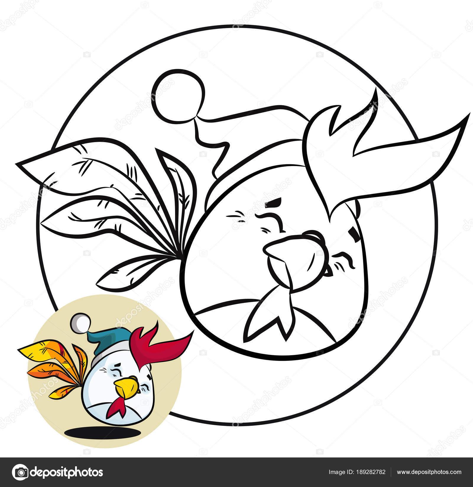 Kleurplaat Kerst En Nieuwjaar Leuke Vogel Stockvector C 1000pixels