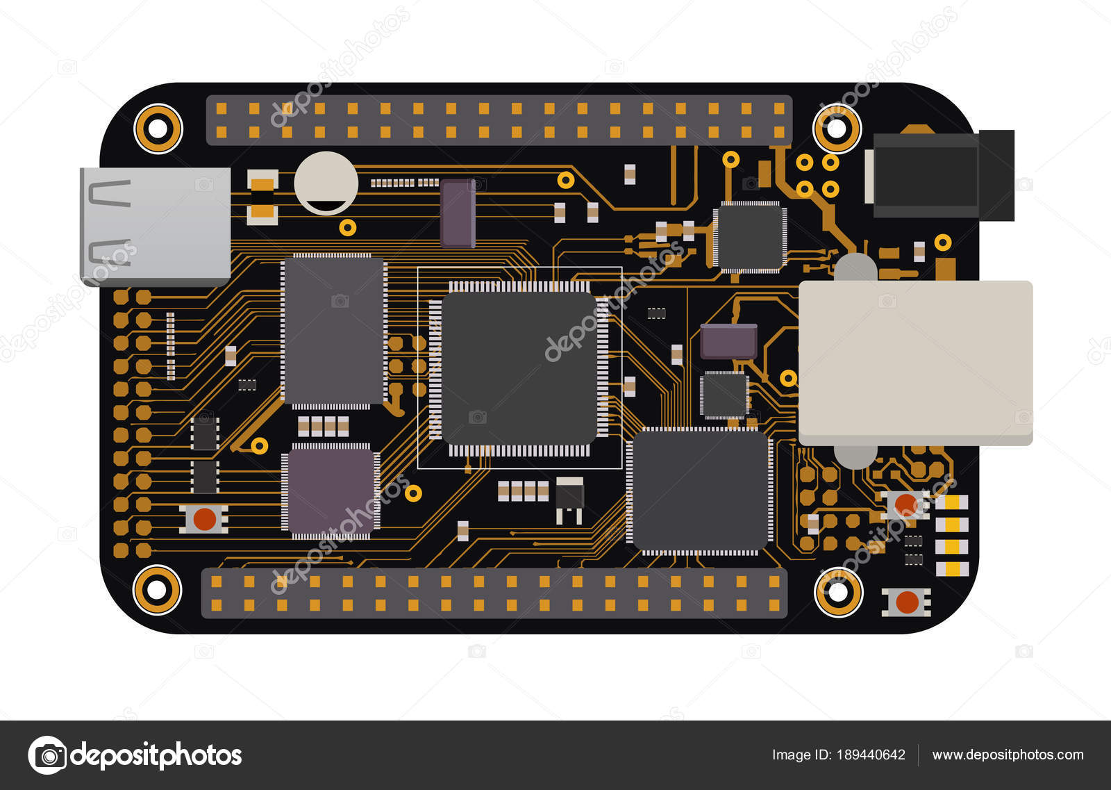 Diy Electronic Mega Board With A Micro Controller Leds Connectors Build Circuit And Other Components To Form The Basic Of Smart Home Robotic