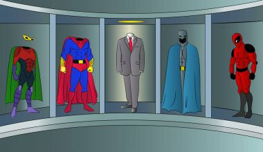 superhero suit for business Vector illustration.