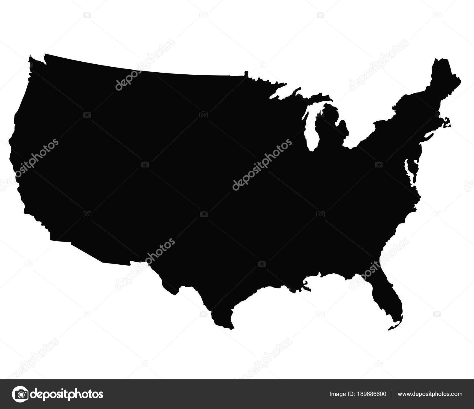 USA map outline vector — Stock Vector © 1000pixels #189686600