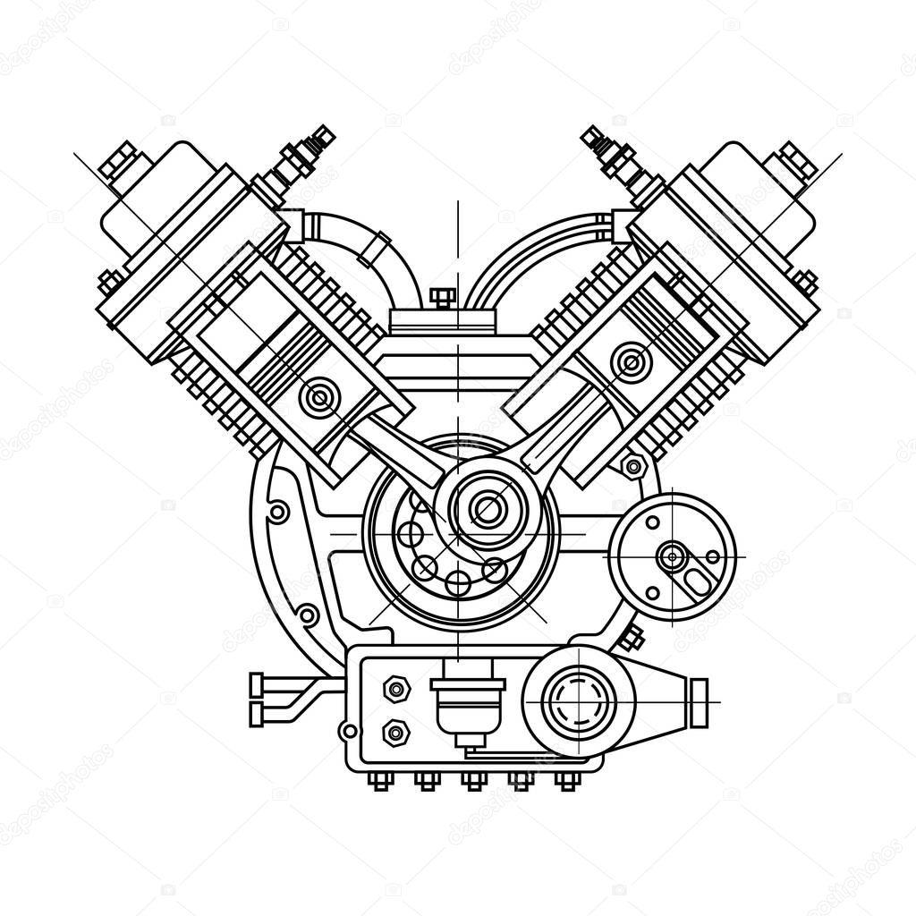 im u00e1genes  dibujo de motor