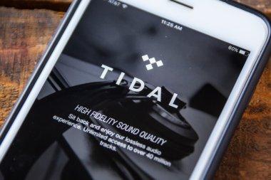 LAS VEGAS, NV - September 22. 2016 - Tidal Music App On Apple