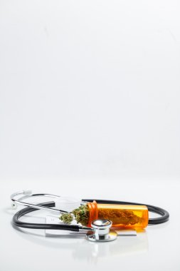 Medical Marijuana Cannabis Buds With Doctors Prescription For Weed