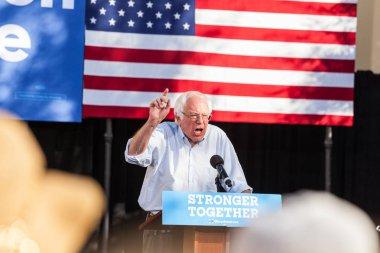 LAS VEGAS, NV - November 6, 2016: Bernie Sanders Campaigns For D