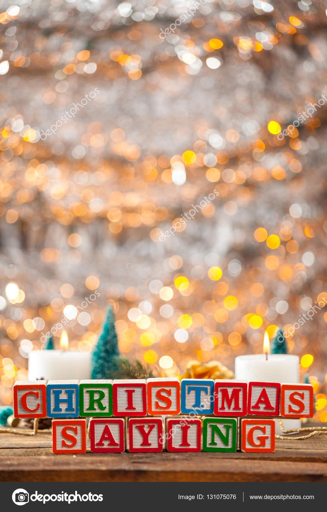 Weihnachten Spruch mit Klötzchen auf Urlaub Karte vertikal ...