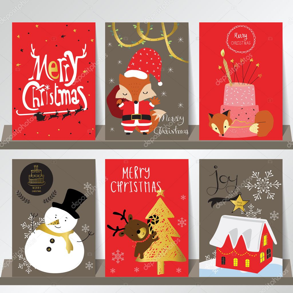 Light Red Gray Love Christmas Greeting Card With Snowmanfoxrei