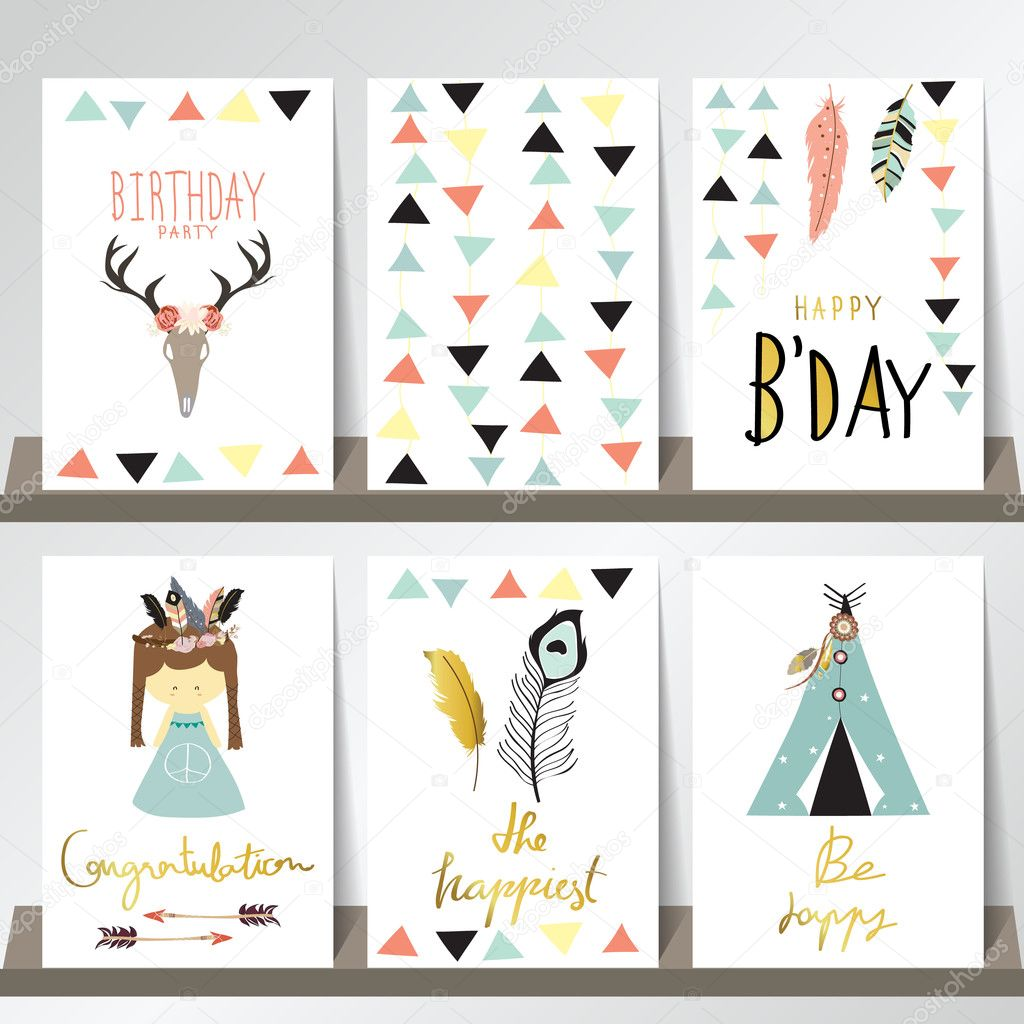 collection for greeting card