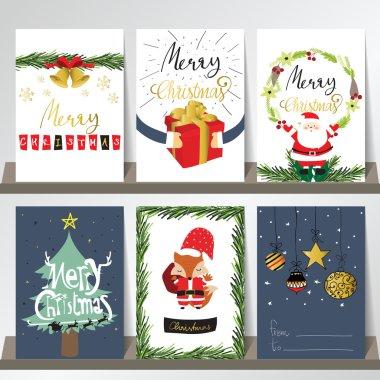 christmas greeting cards set