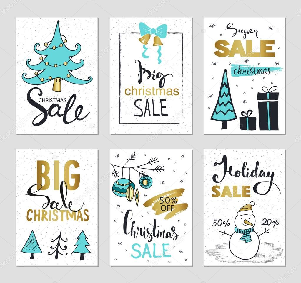 set of creative sale holiday website banner templates christmas and new year illustrations for social media banners posters email and newsletter designs