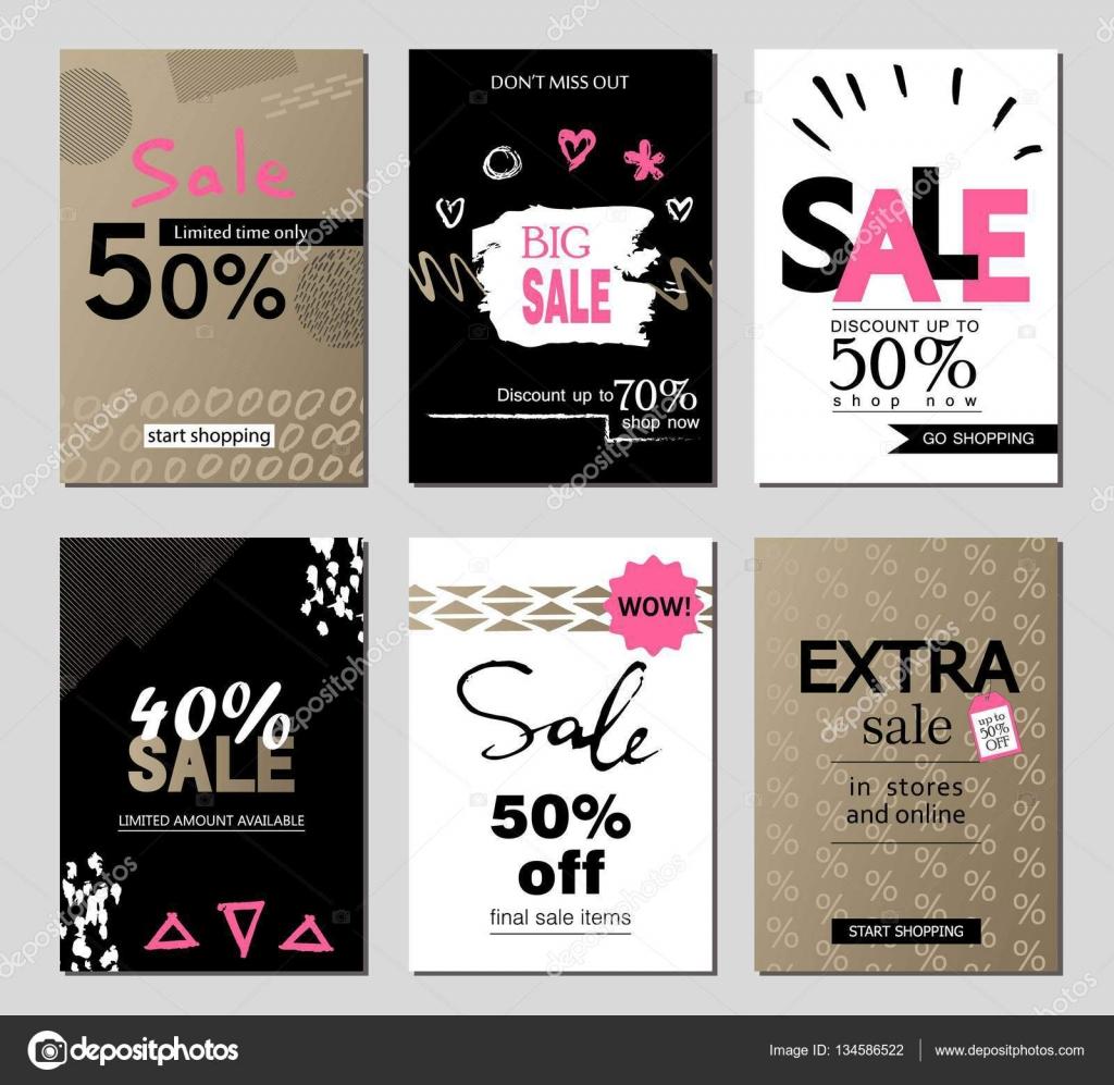 Satz von social-Media-Verkauf-Website und mobile Banner-Vorlagen ...