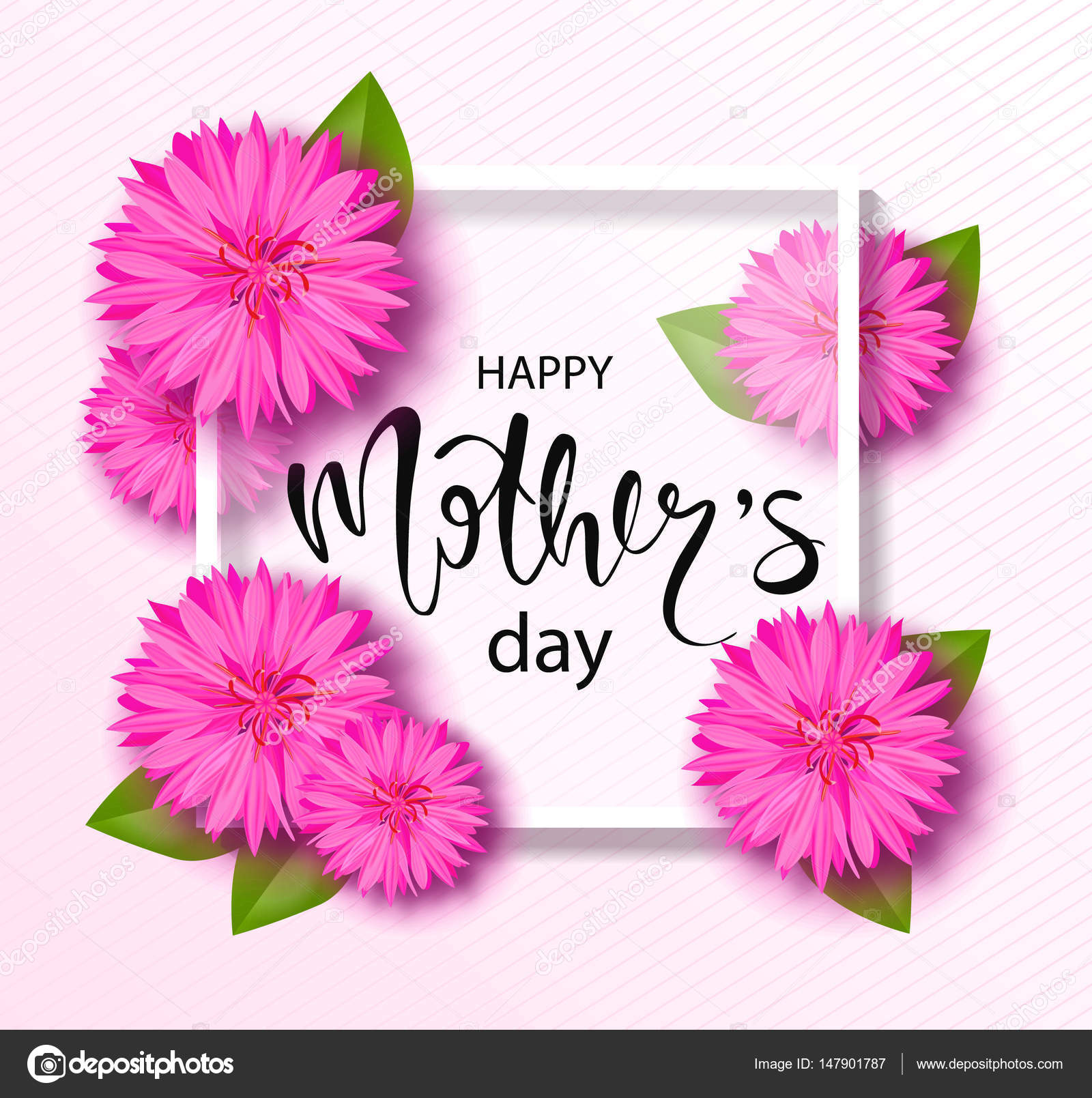 Creative Floral Flyer Of Happy Mothers Day Template For: Happy Mothers Day Background With Beautiful Flowers