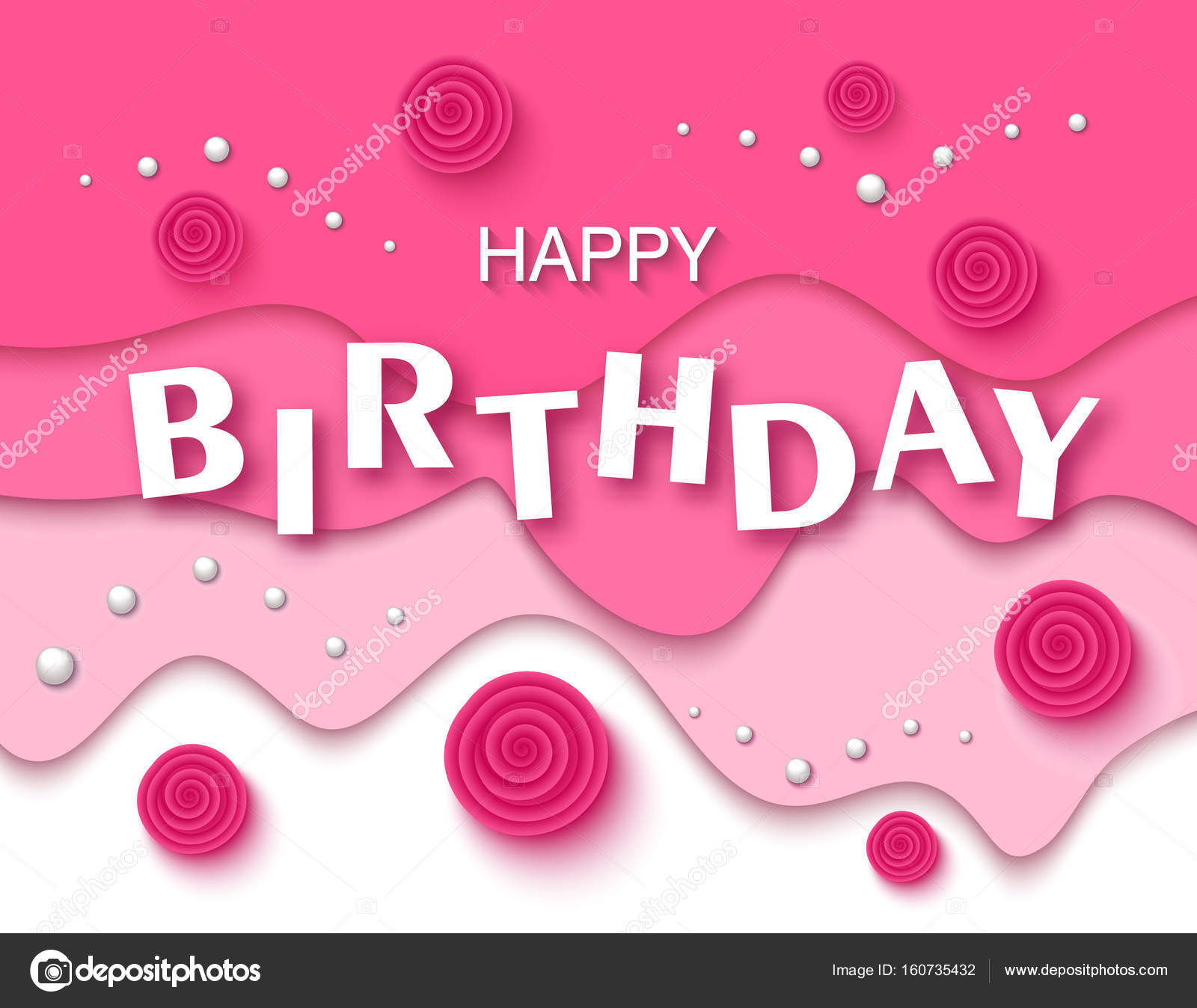 Happy birthday greeting card and party invitation template with happy birthday greeting card and party invitation template with beautiful flowers and pearls vector illustration izmirmasajfo