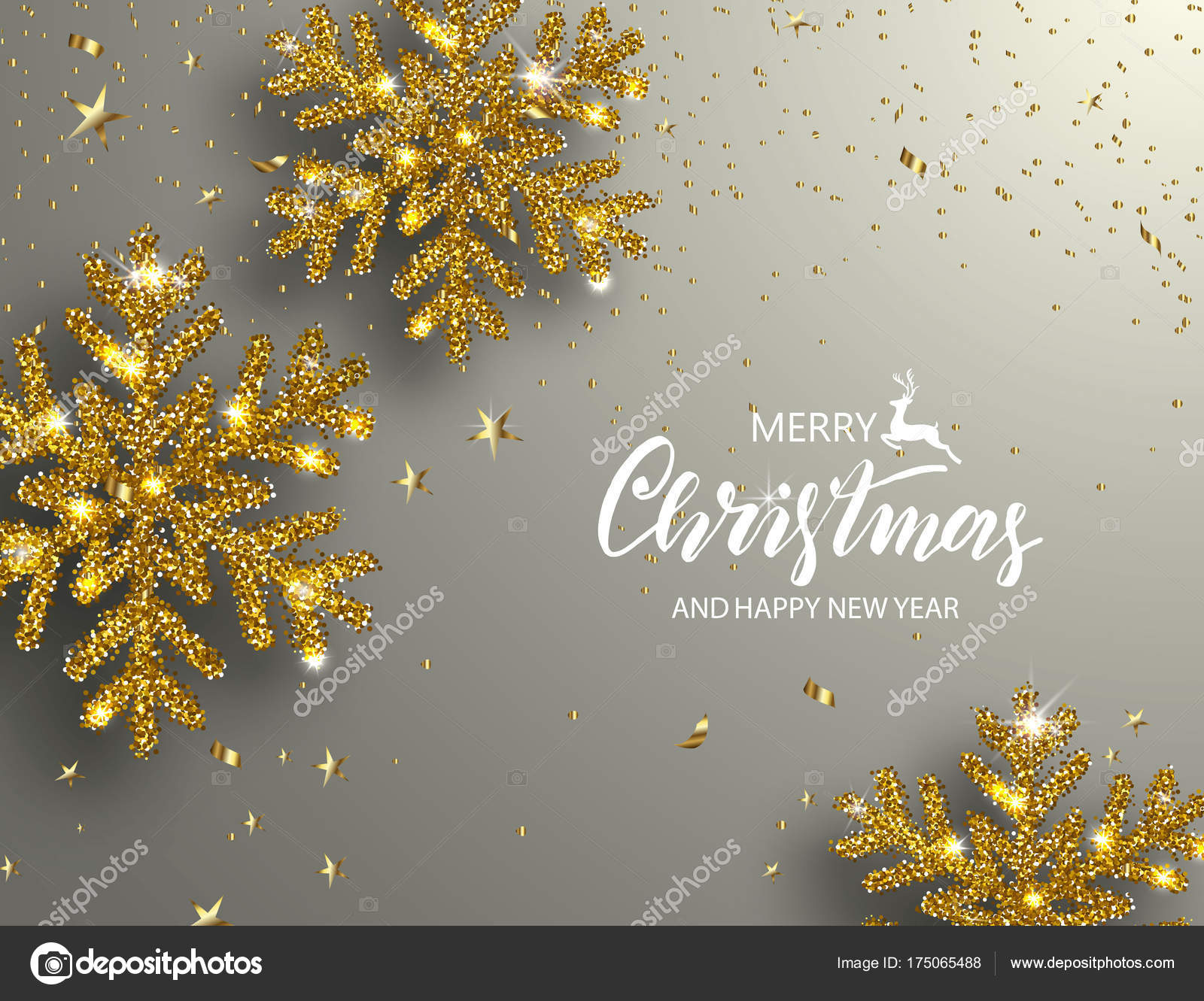 Elegant Christmas Background Hd.Elegant Christmas Background With Shining Gold Snowflakes
