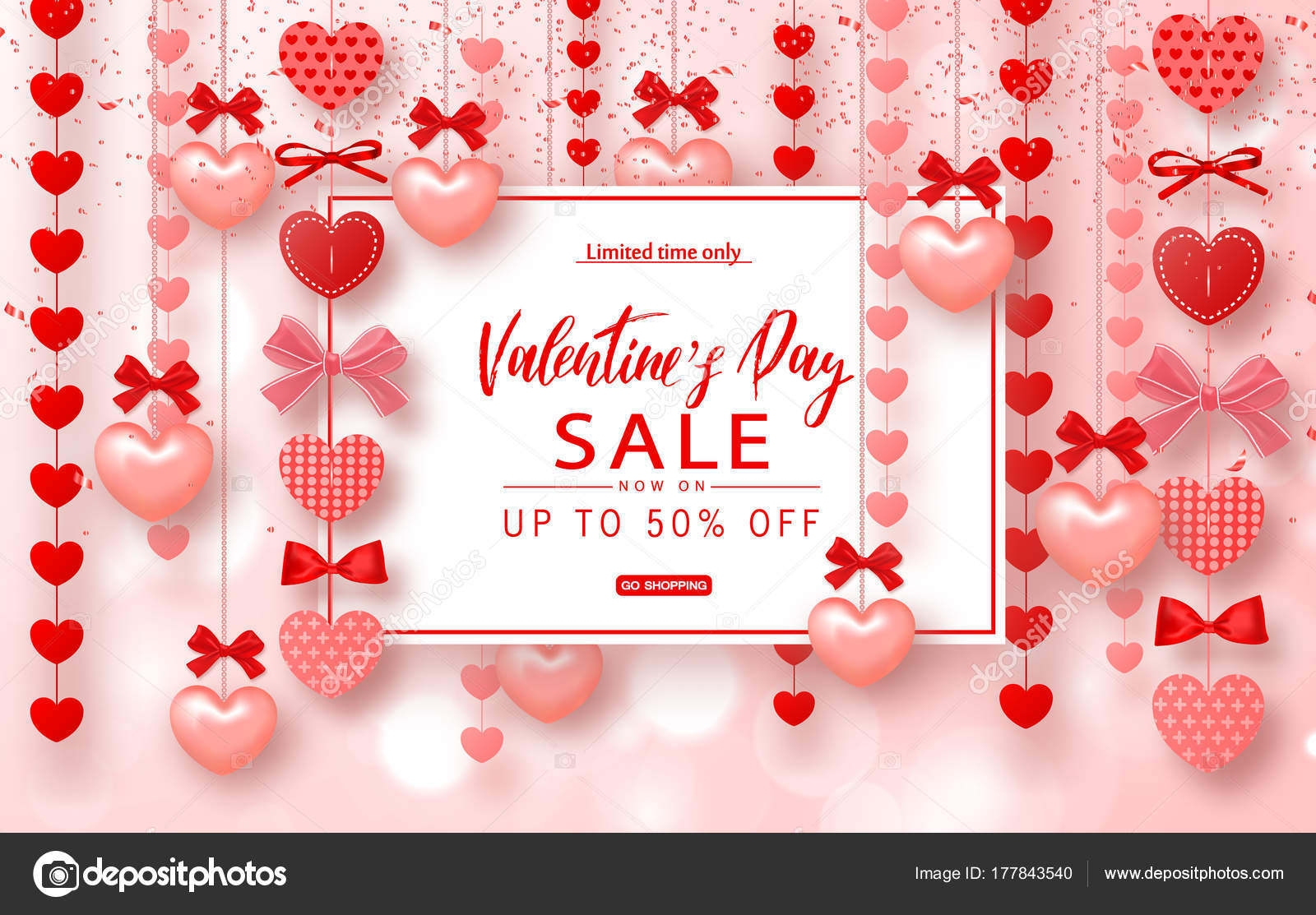 valentines day sale banner. beautiful background with hearts, Ideas