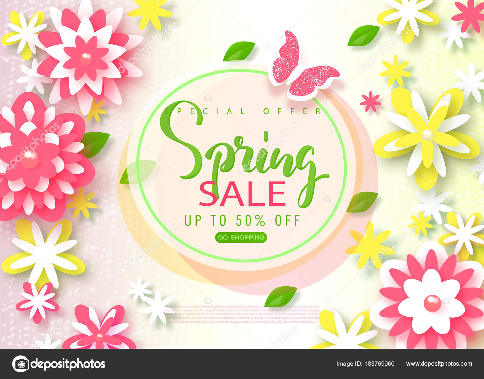 Spring sale banner beautiful background with paper flowers and spring sale banner beautiful background with paper flowers and butterfly vector illustration for website mightylinksfo