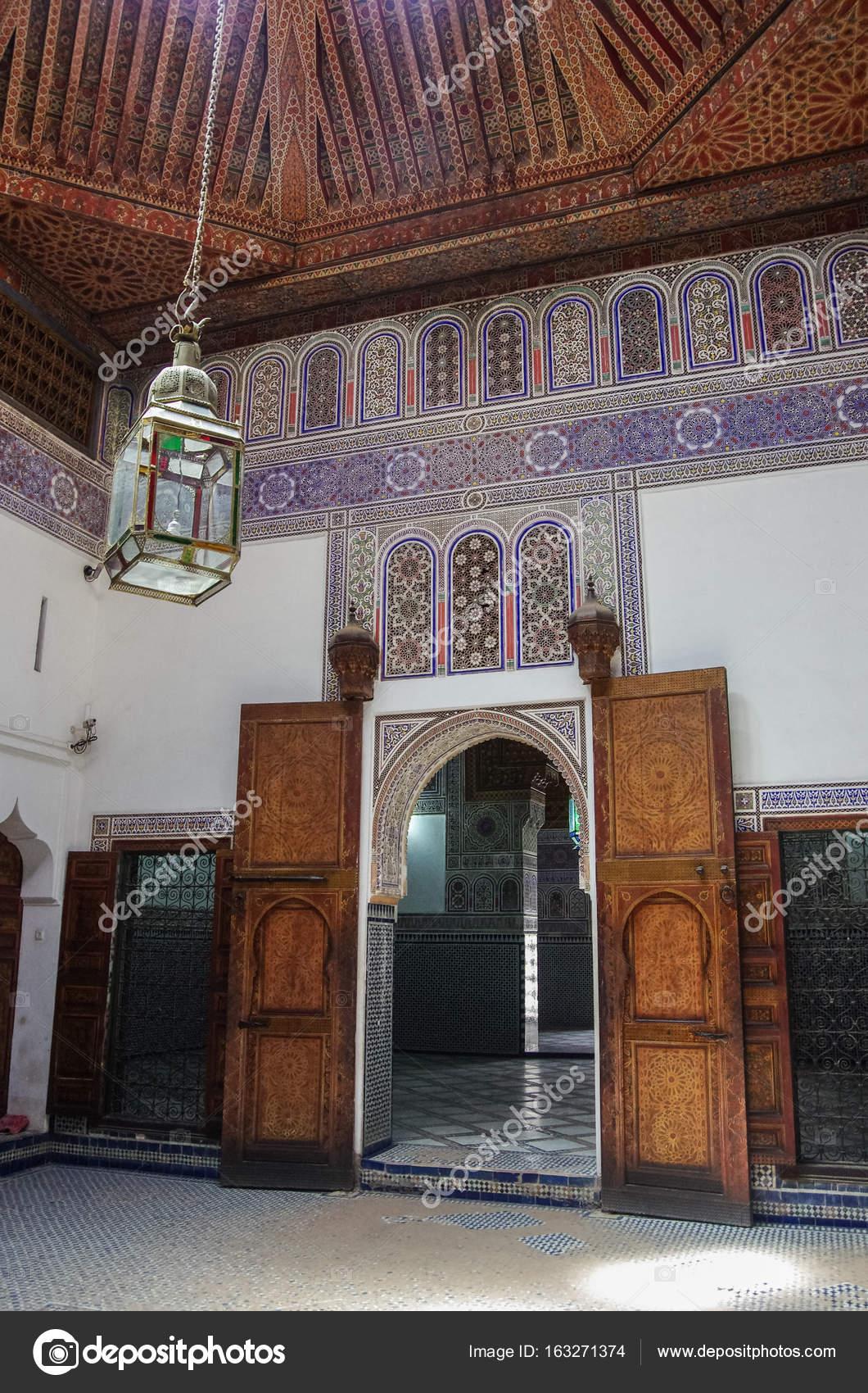 Details des Interieurs von El Bahia-Palast, Marrakesch, Marokko ...