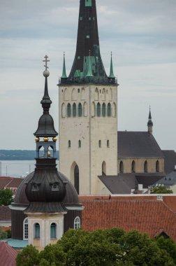 View of Saint Olaf Church in Tallinn, Estonia. The spire is 123.8 meters tall.
