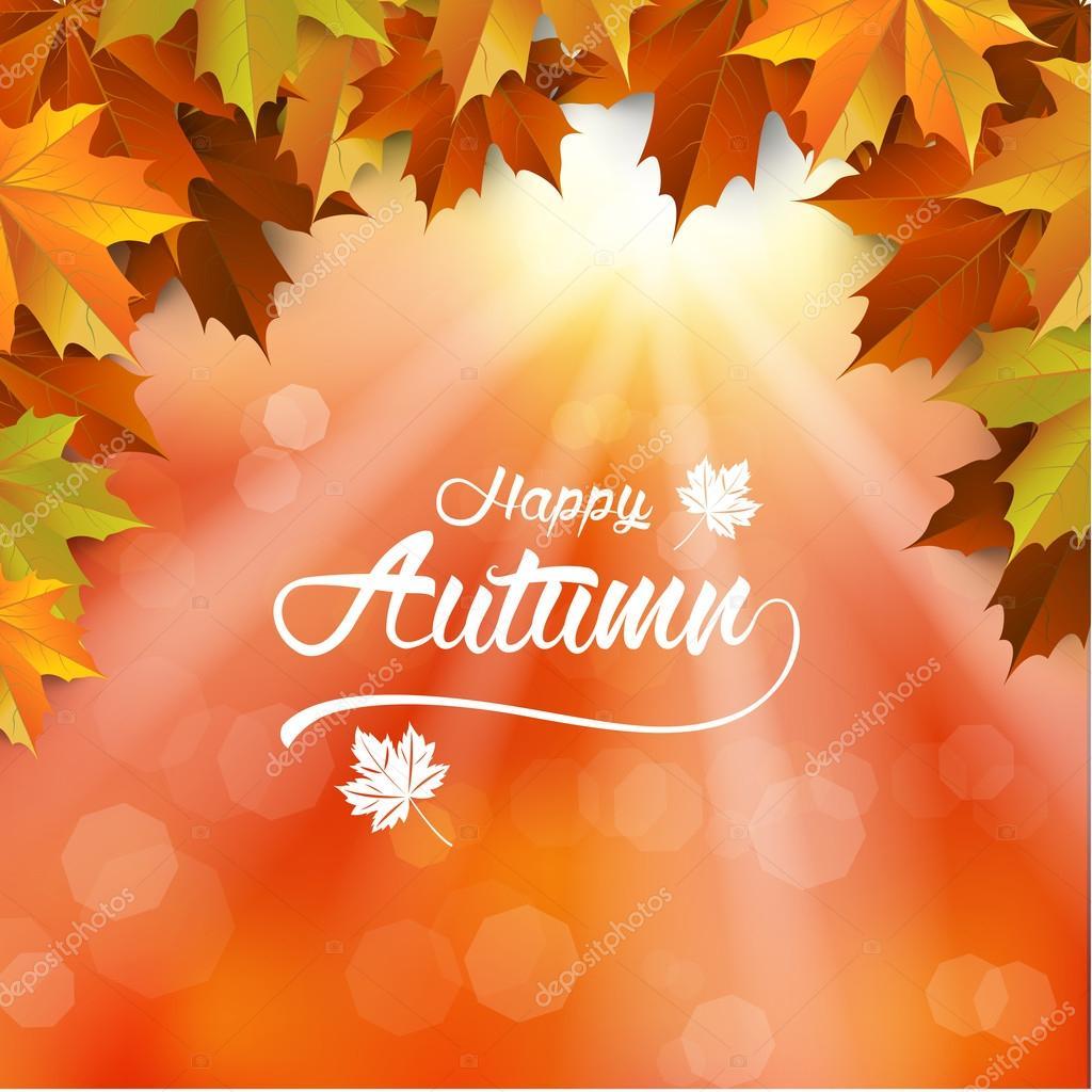 Herbst Hintergrund Herbst Wallpaper Herbstblatt Verwischen
