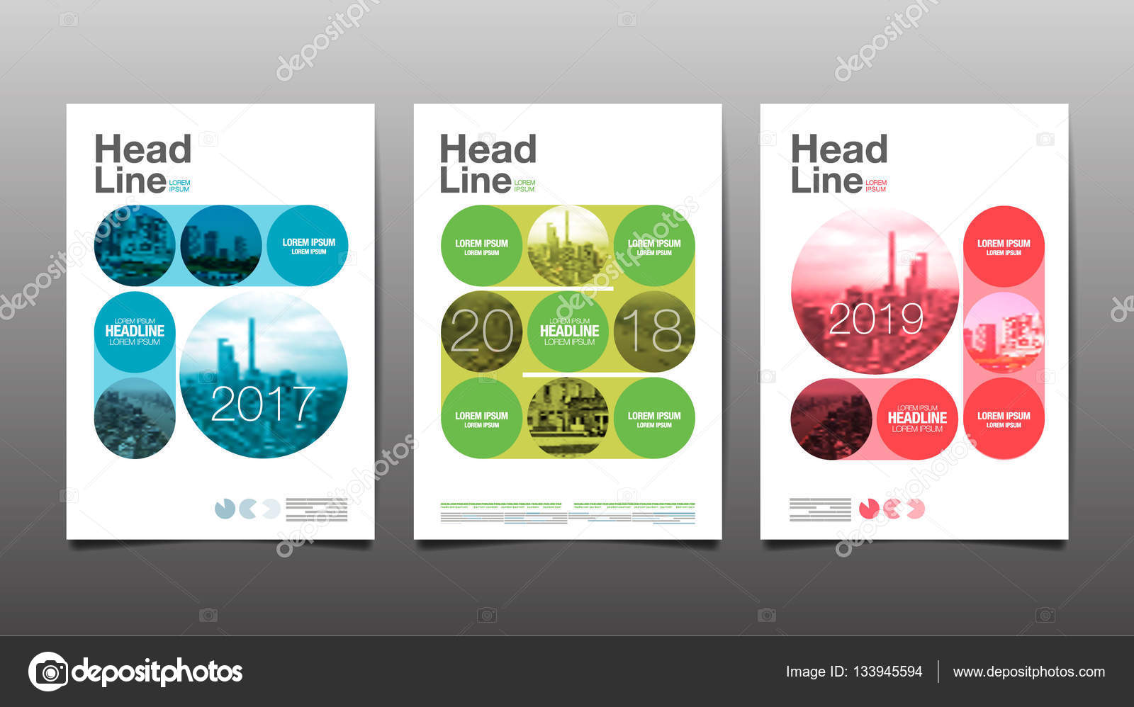 Poster Annual Report201720182019 Flyer Template Circle Ab