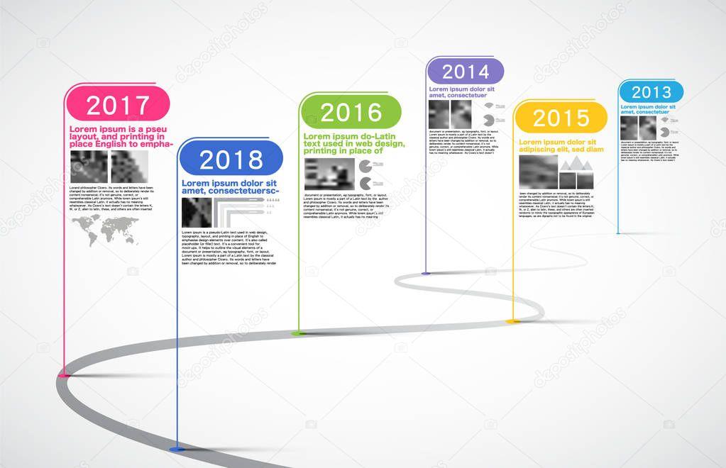 milestones company  timeline infographic  vector  history