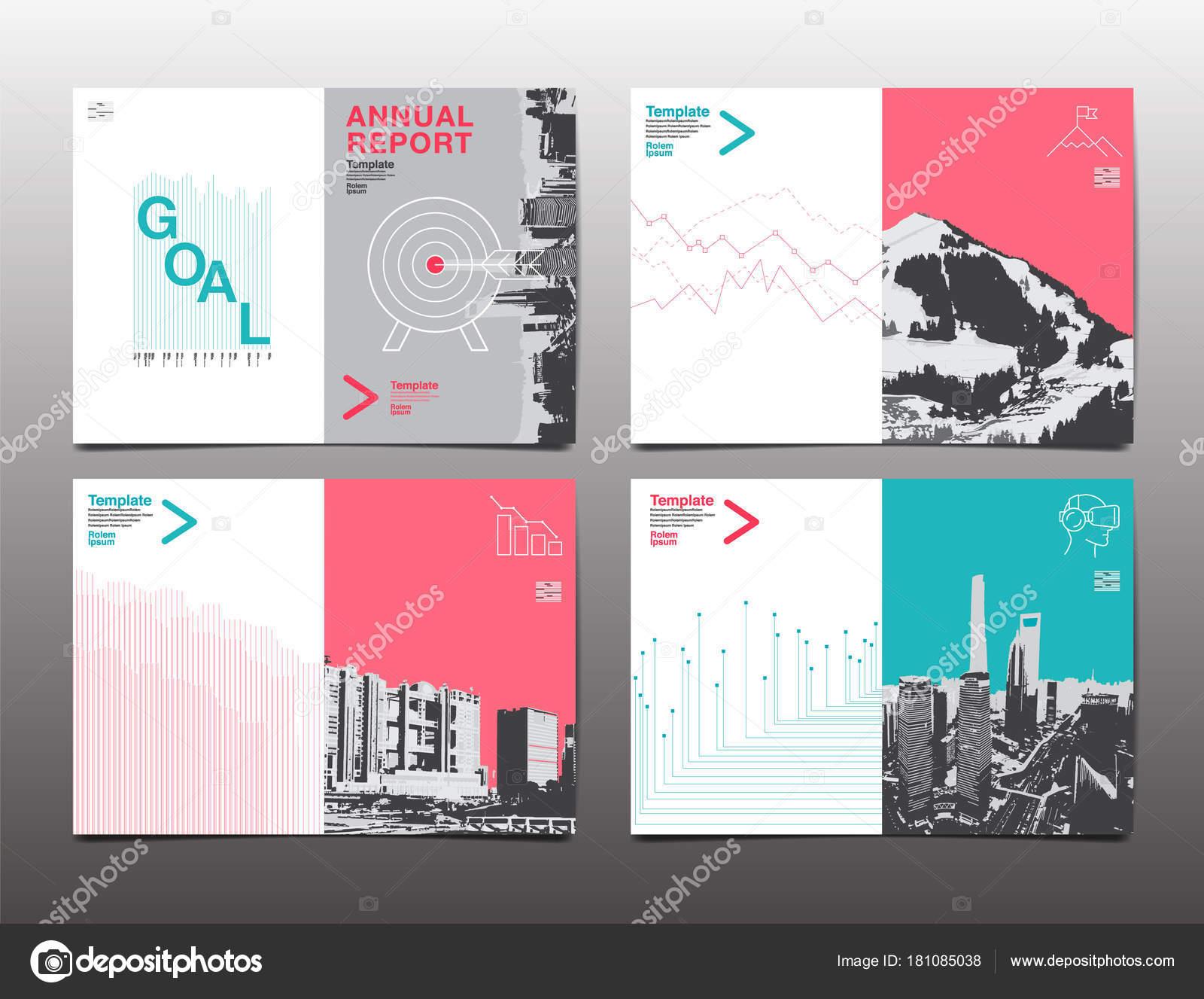 Broschüre Design-Vorlage, Geschäftsbericht, Flyer, flache des zu ...