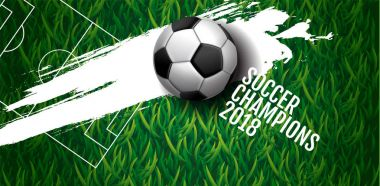 soccer championship cup background , football, Russia 2018, vect