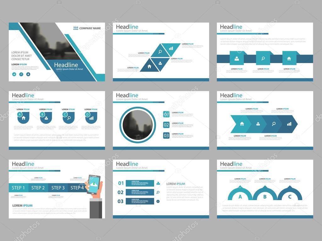 Blaue abstrakte Präsentationsvorlagen, Infografik Elemente Vorlage ...
