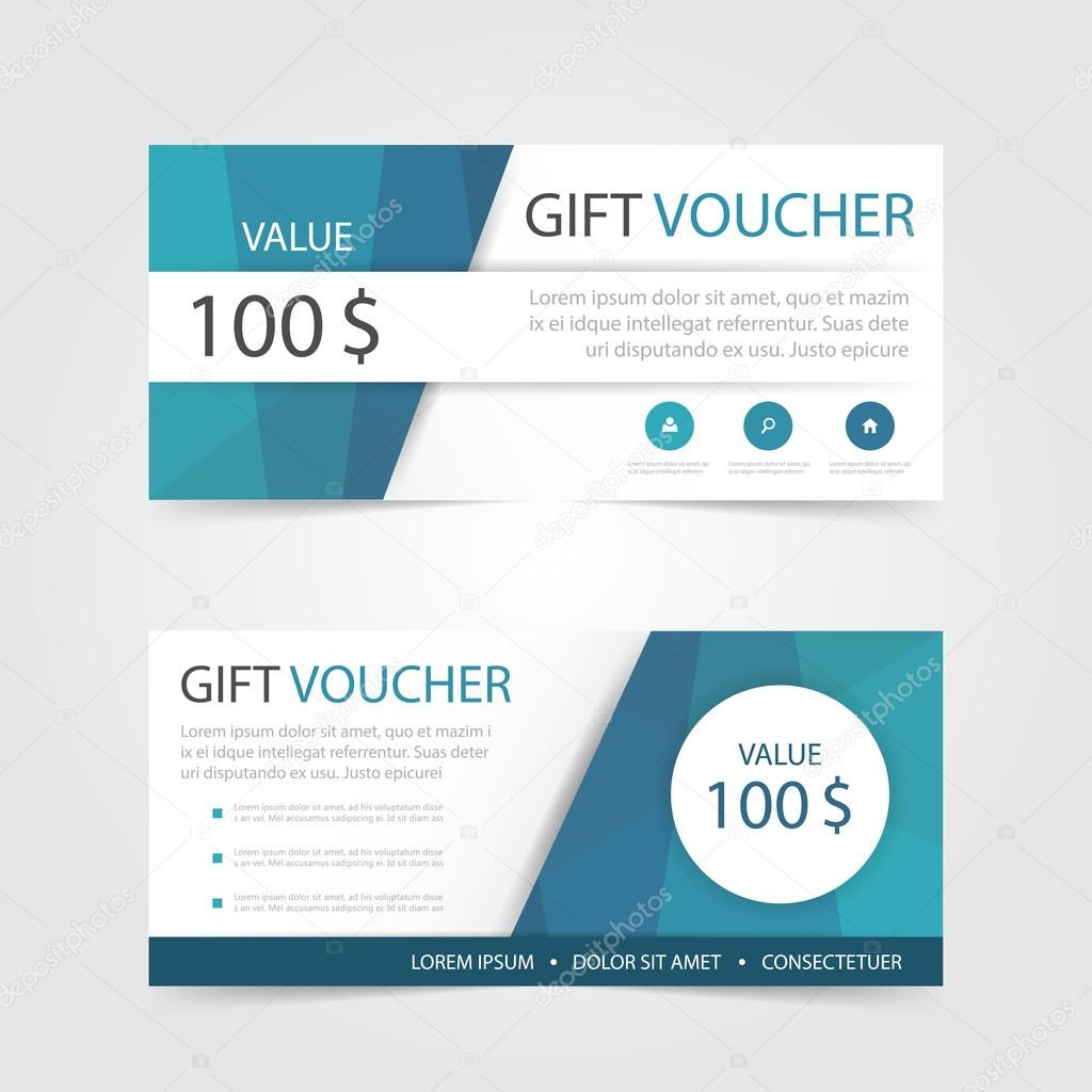 Blue polygon gift voucher template with colorful patterncute gift blue polygon gift voucher template with colorful patterncute gift voucher certificate coupon design templatecollection gift certificate business card yadclub