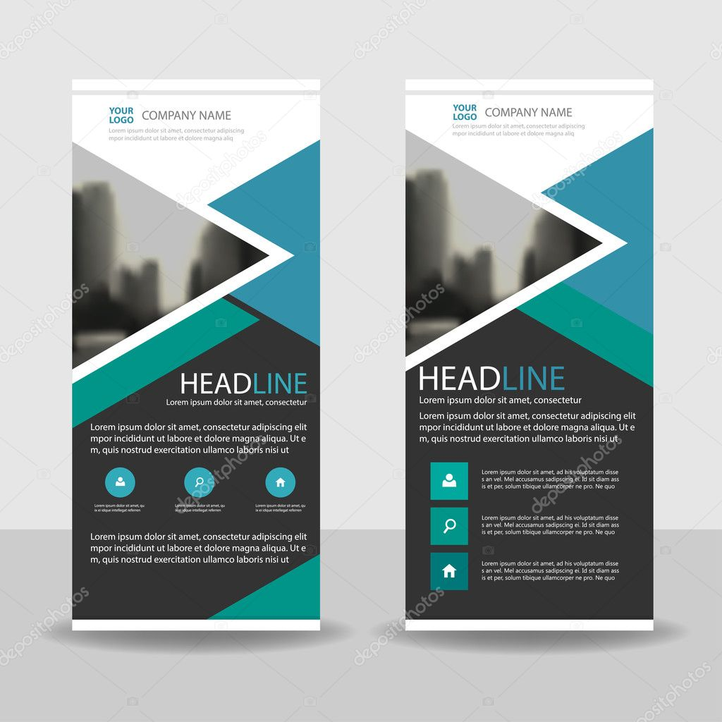 Green roll up business brochure flyer banner design vertical template - Blue Green Triangle Roll Up Business Brochure Flyer Banner Design Cover Presentation Abstract Geometric Background
