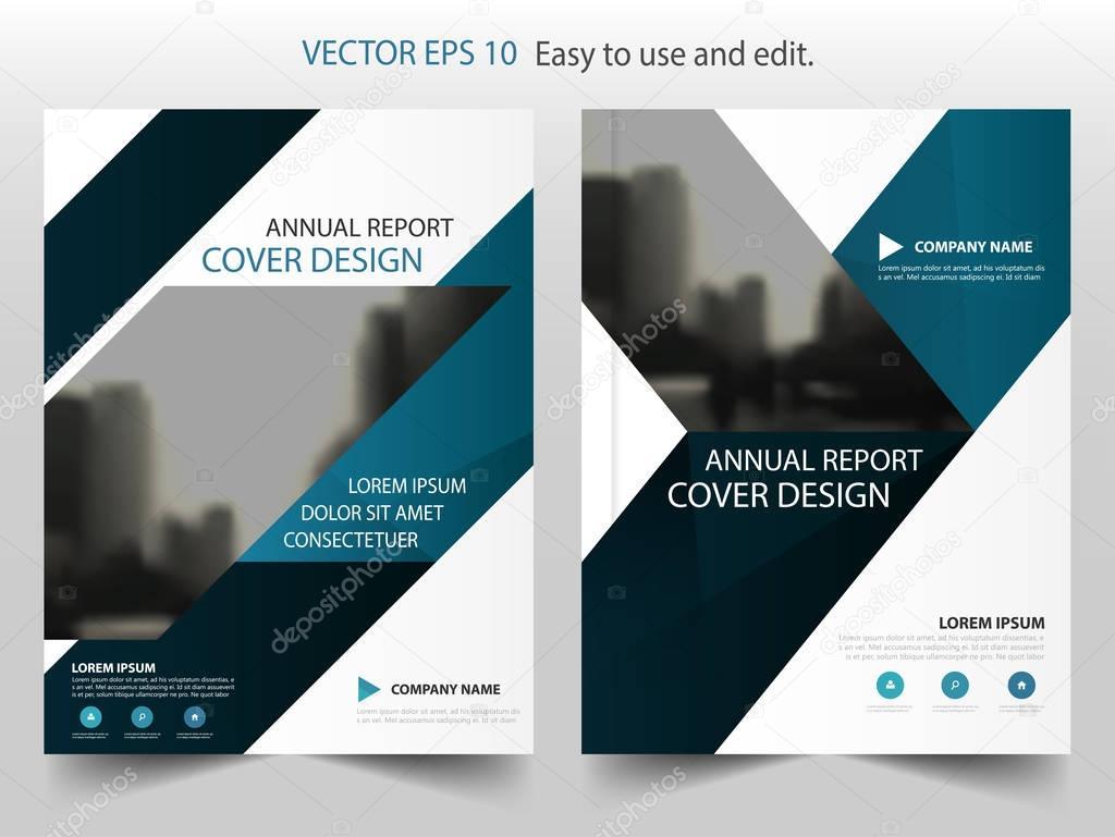 Blaues Dreieck abstrakte jährlichen Bericht Broschüre Design Vorlage ...