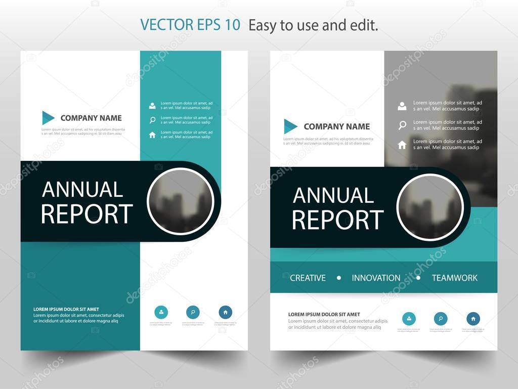 Círculo verde Resumen anual Informe folleto diseño plantilla vector ...
