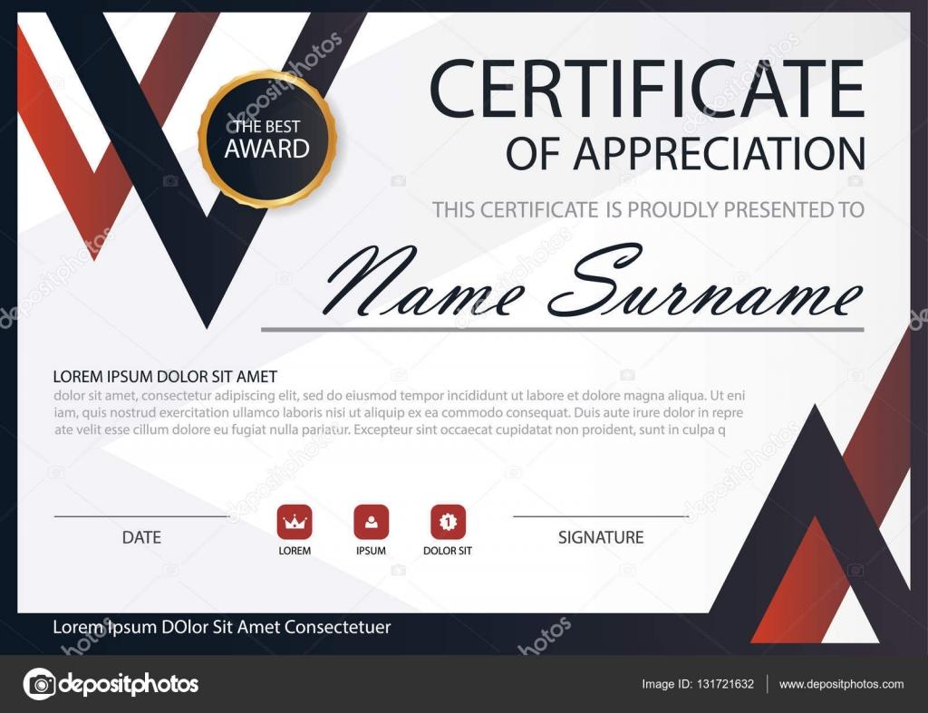 Rote schwarze Eleganz horizontale Zertifikat mit Vektor Illustration ...