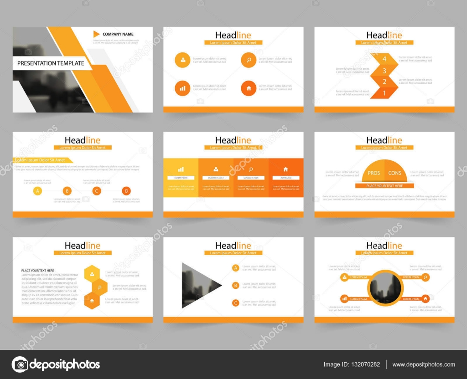 Resumen de naranja plantillas de presentación, diseño de planos de ...