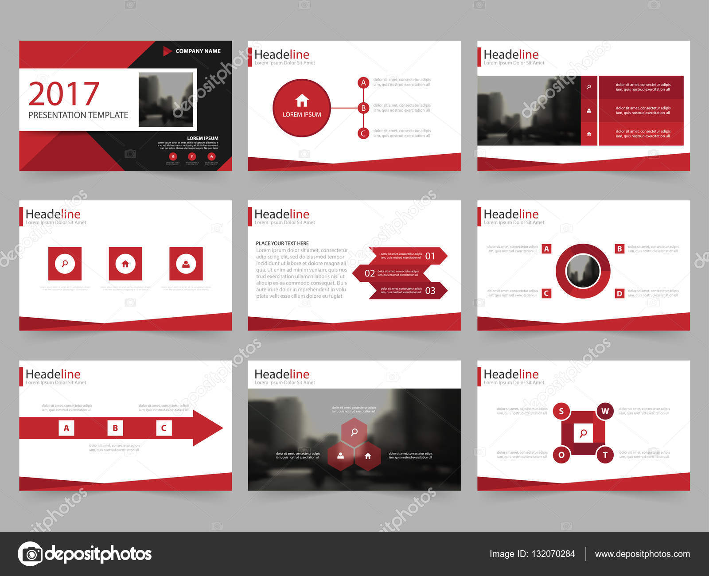 Abstrakt rot Präsentationsvorlagen, Infografik Elemente Vorlage ...
