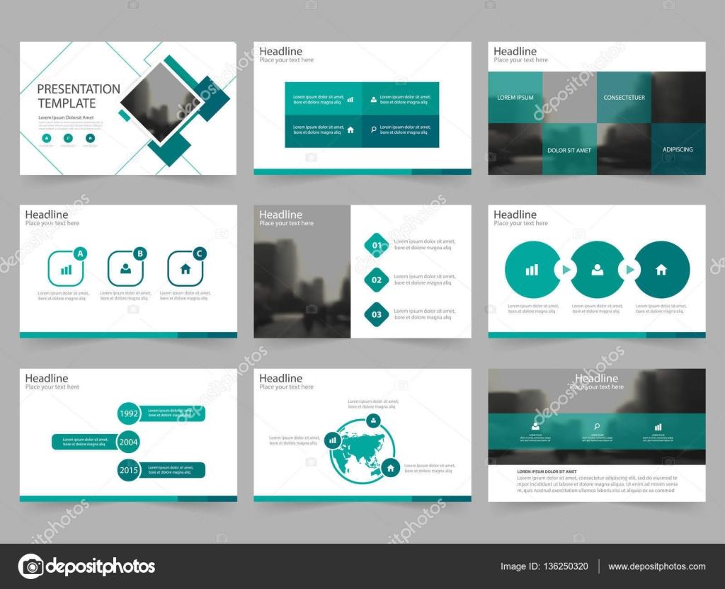 Grünes Quadrat abstrakt Präsentationsvorlagen, Infografik Elemente ...