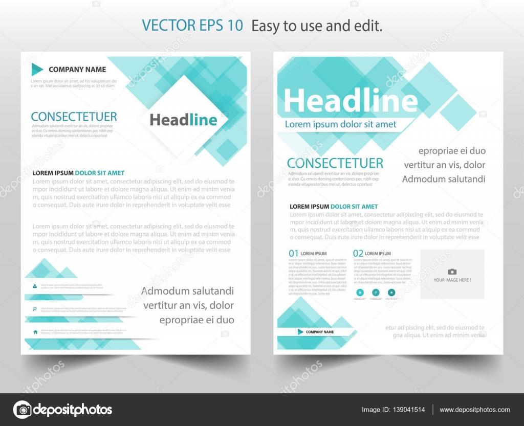 Blaue abstrakte Quadrat jährlichen Bericht Broschüre Design Vorlage ...