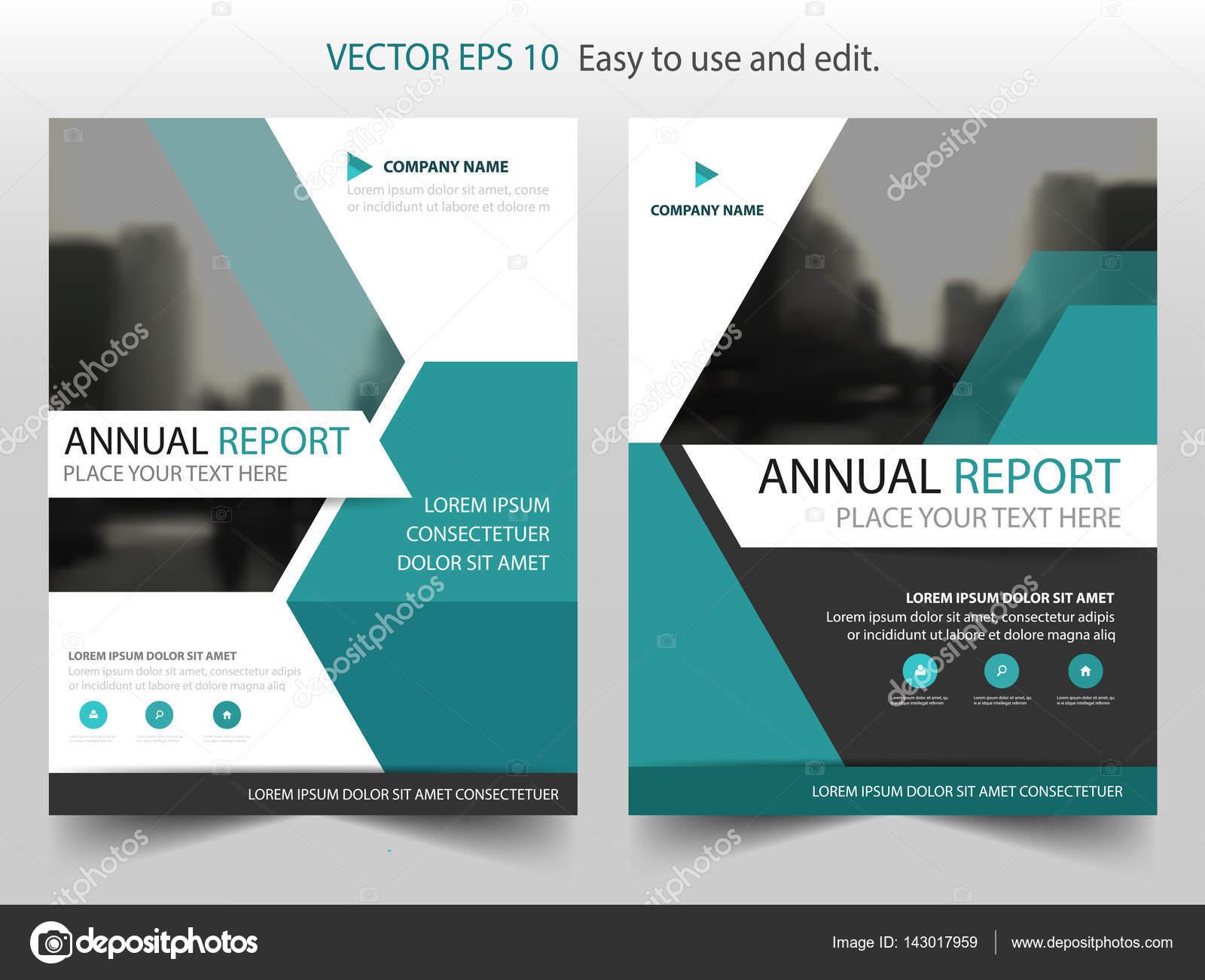 Blaue Sechseck Vektor Broschüre jährlichen Bericht Broschüre Flyer ...