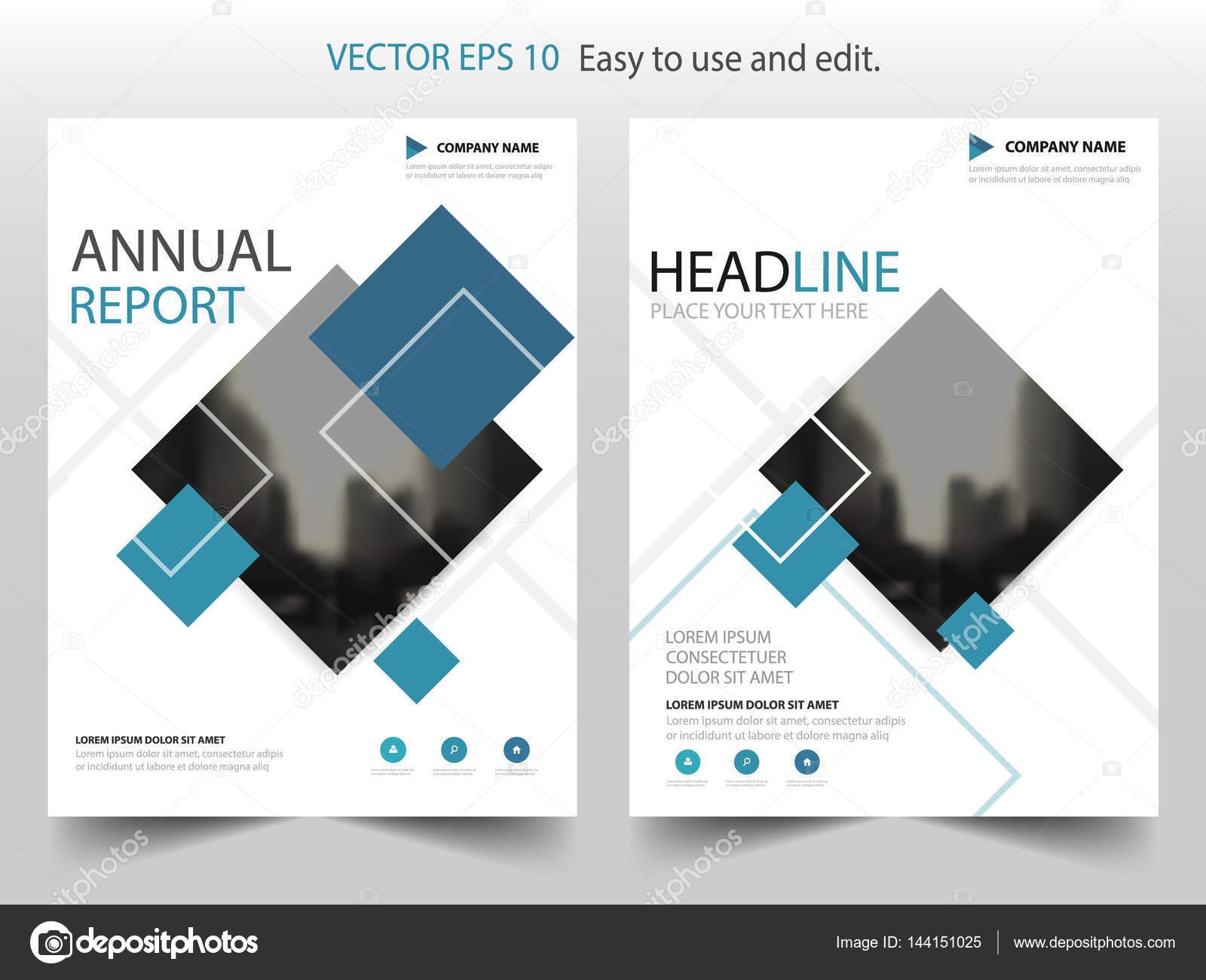 Blau schwarz Vektor Broschüre jährlichen Bericht Broschüre Flyer ...