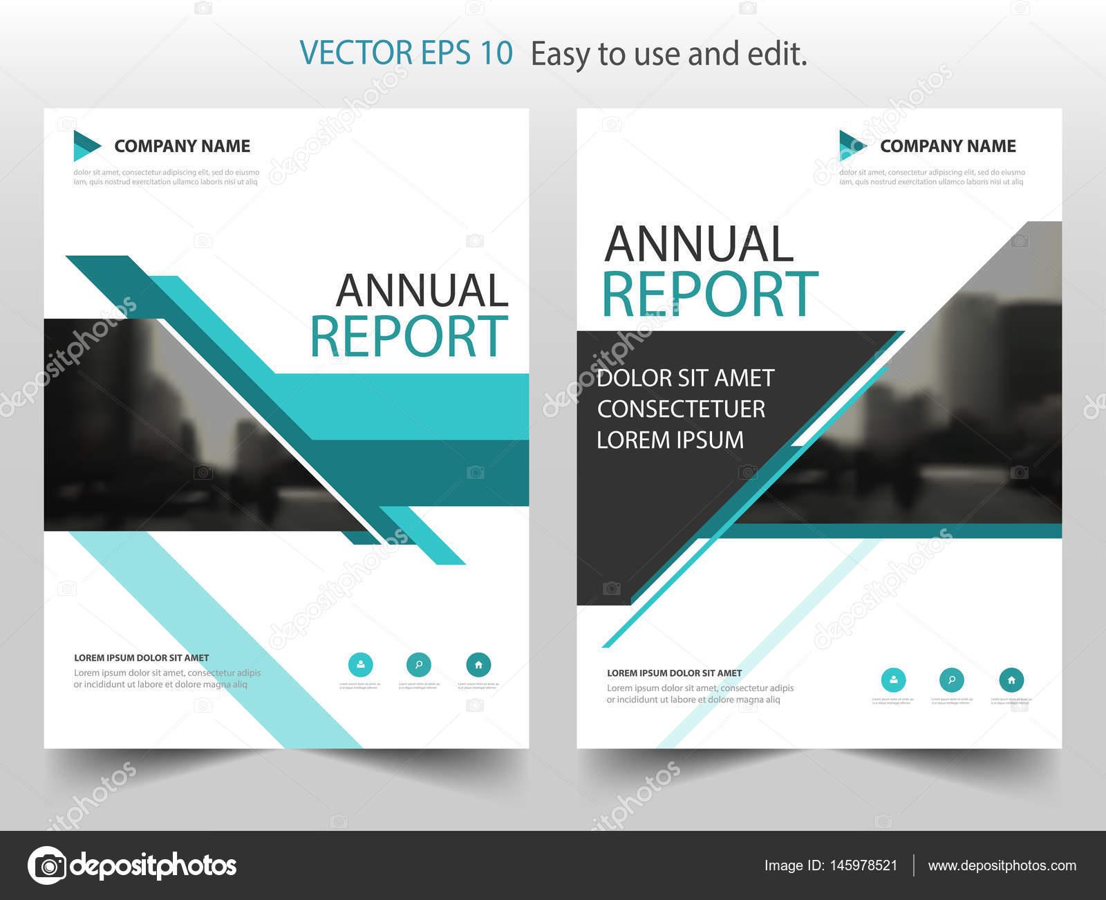 Blaue Linie Vektor Broschüre jährlichen Bericht Broschüre Flyer ...