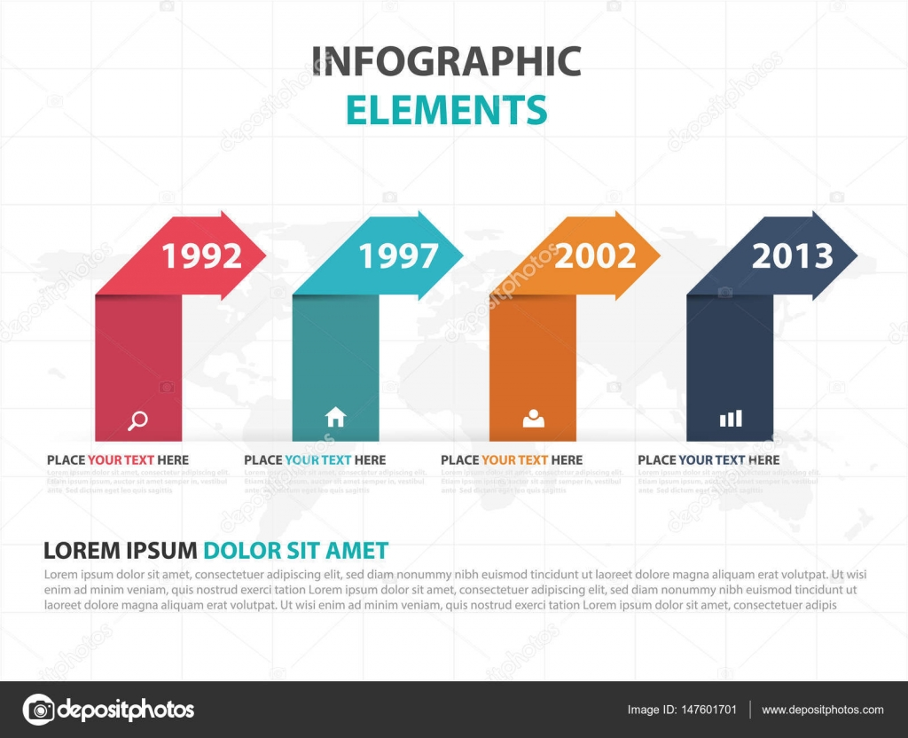 Abstract colorful label business timeline Infographics elements ...
