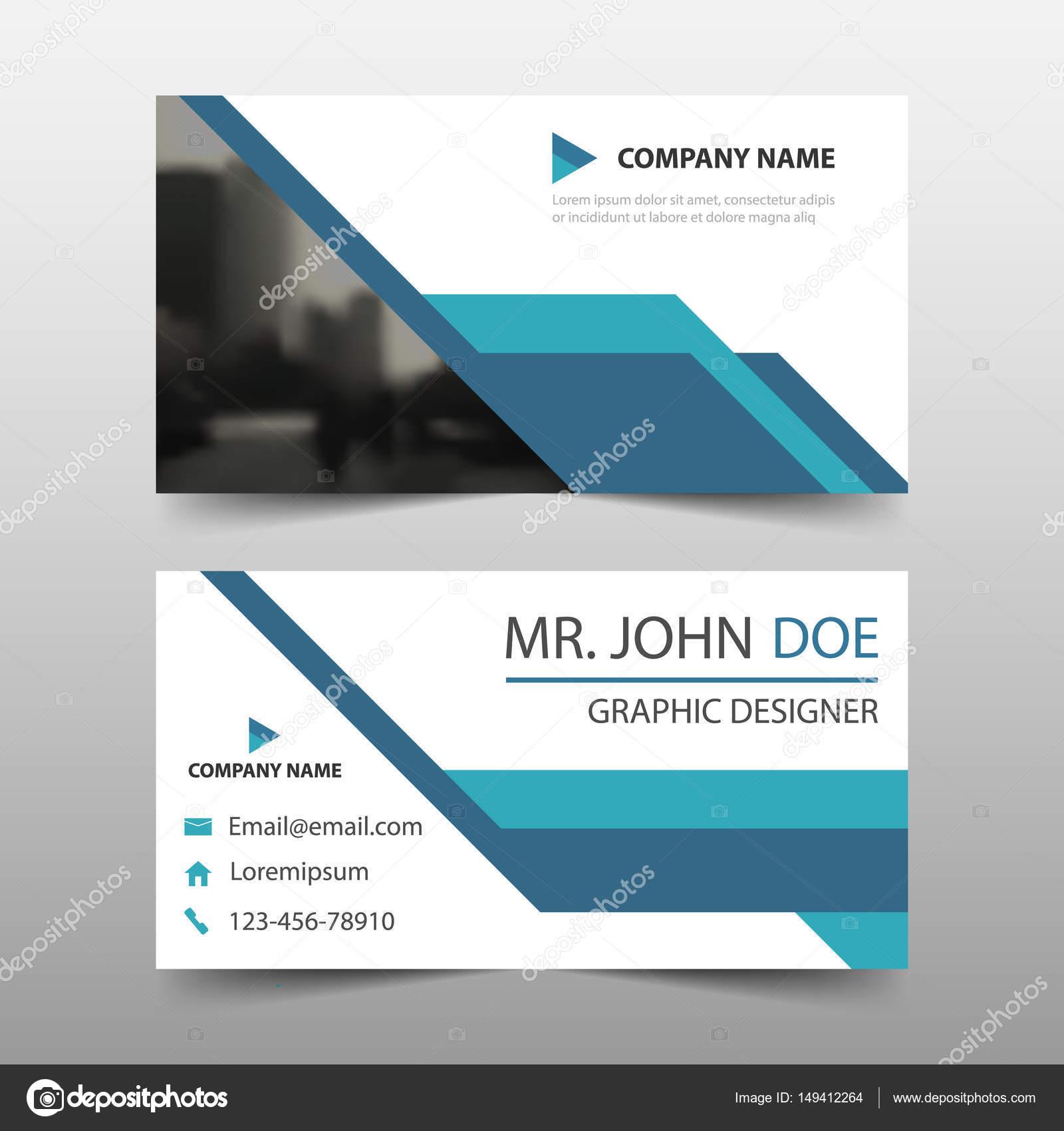 Blue corporate Business-Card, Karte Namensvorlage, horizontale ...