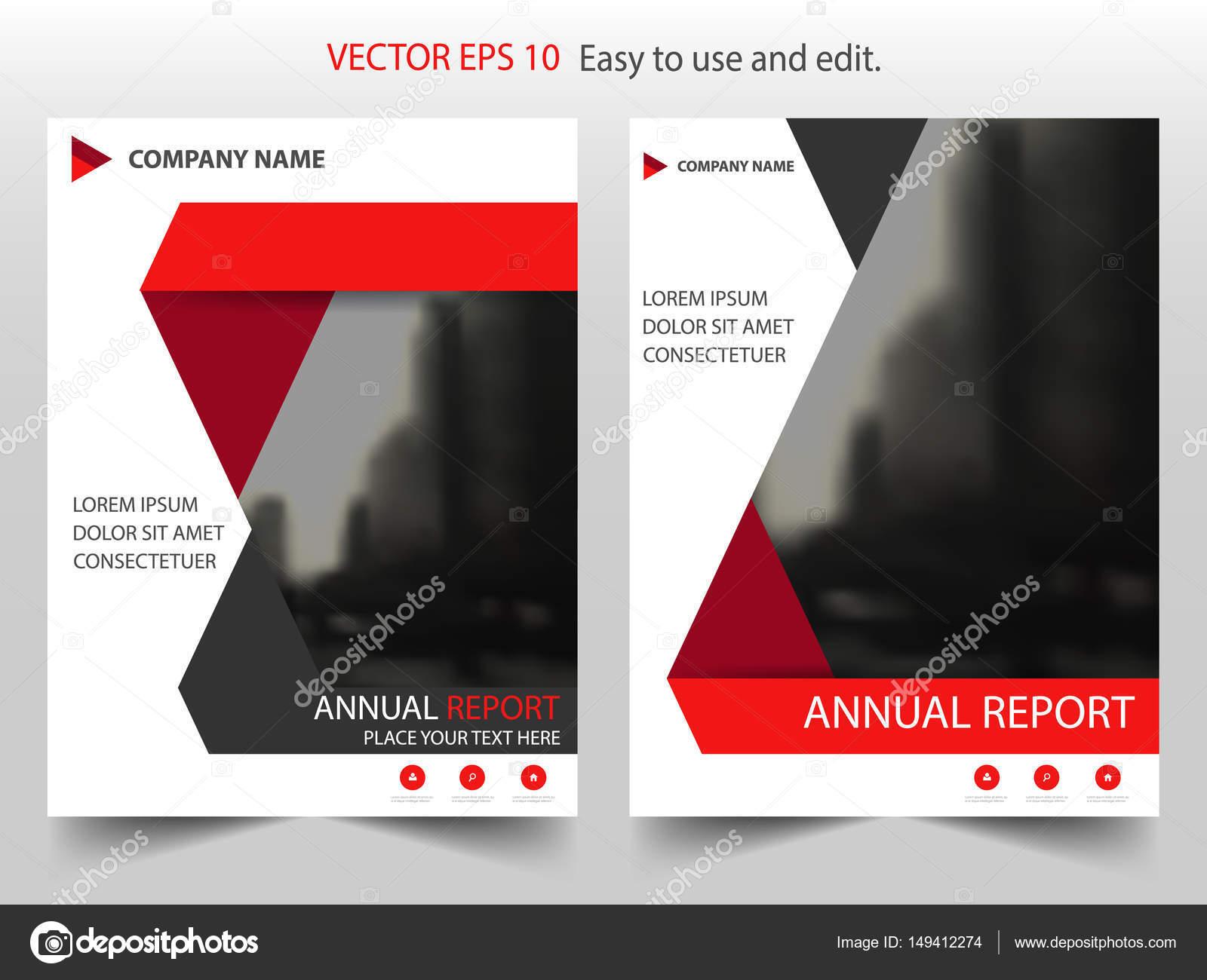 Rote schwarze abstrakte Dreieck jährlichen Bericht Broschüre Design ...