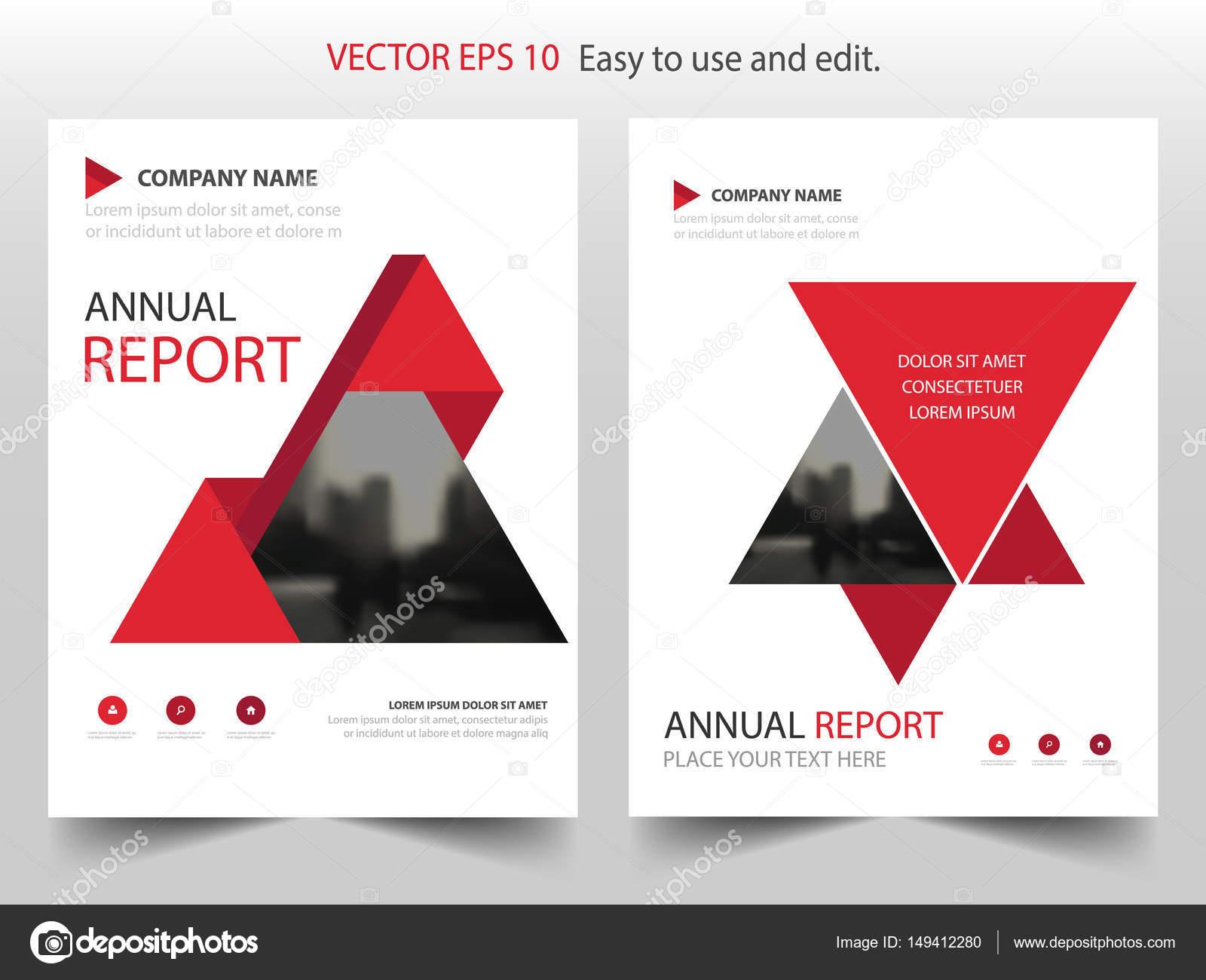 Rotes Dreieck abstrakte jährlichen Bericht Broschüre Design Vorlage ...