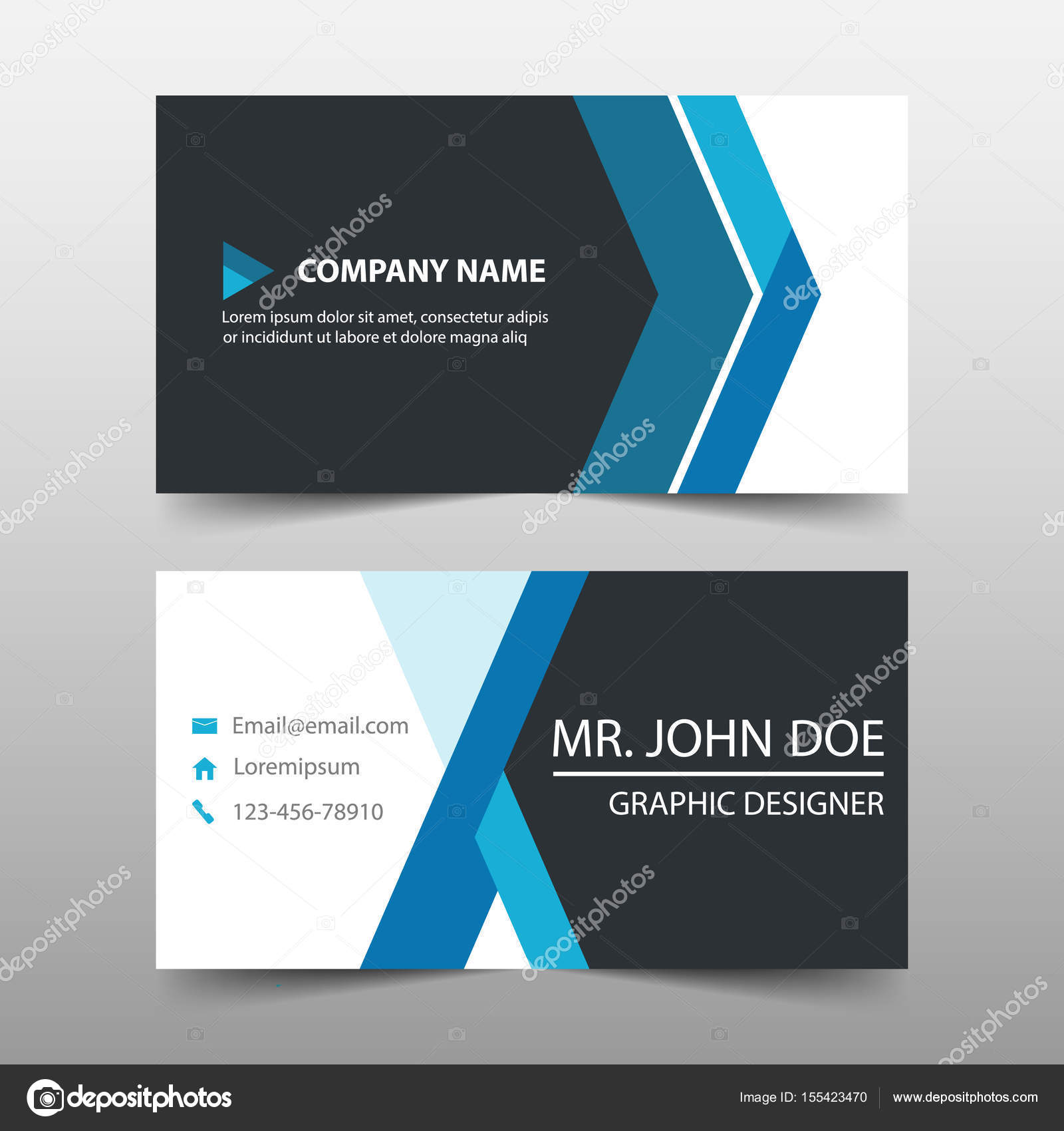 Blue corporate business card name card template horizontal simple blue corporate business card name card template horizontal simple clean layout design template wajeb Choice Image